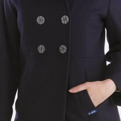 Bellonne, Manteau trois-quarts avec double boutonnage Le Glazik Prune poche