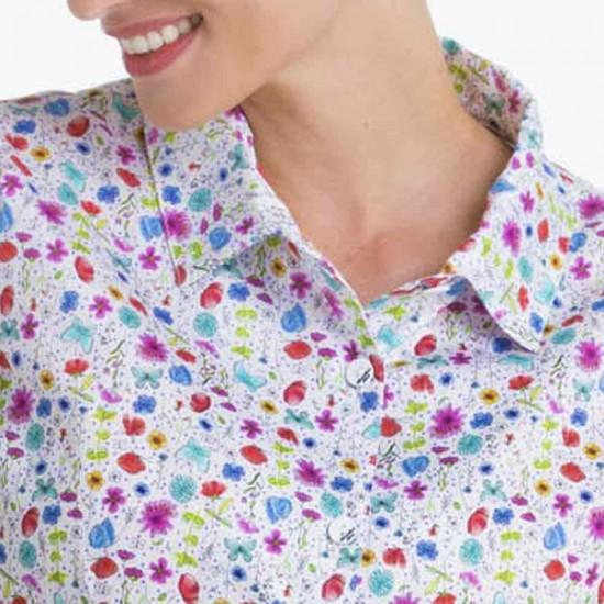 Mugello, Fancy Flower Blouse collar
