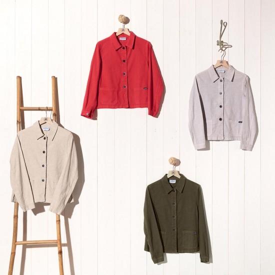 Faenza, Veste lin et coton naturel