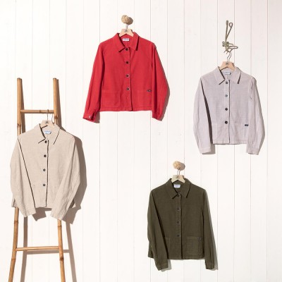 Faenza, Linen and natural cotton jacket