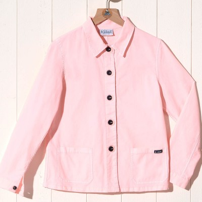 Flore, Jacket in stretch canvas dragee