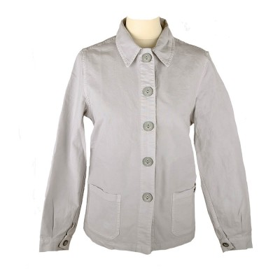 Flore, Jacket in stretch canvas argent