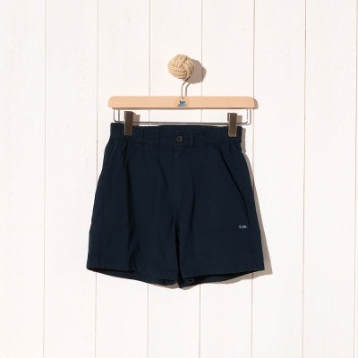 Odet, Short court en toile stretch navy