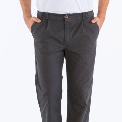 Pauillac, Pantalon en toile armurée anthracite