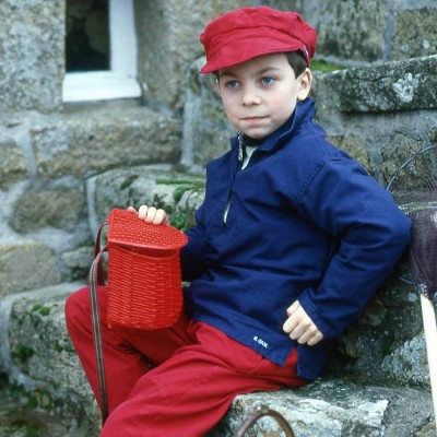 Chalutier, Genuine child sailor smock in organic cotton marine