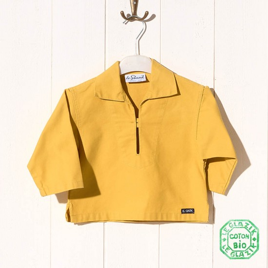 Chalutier, Genuine child sailor smock in organic cotton jaune