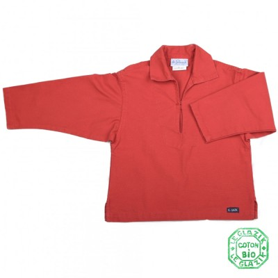 Chalutier, Vareuse authentique en coton bio enfant rouge