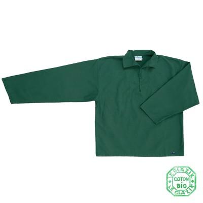 Chalutier, Genuine child sailor smock in organic cotton vert