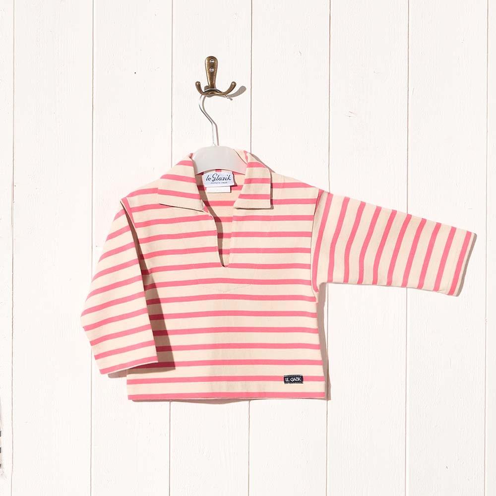 Rosa, Striped jersey child sailor's smock rose