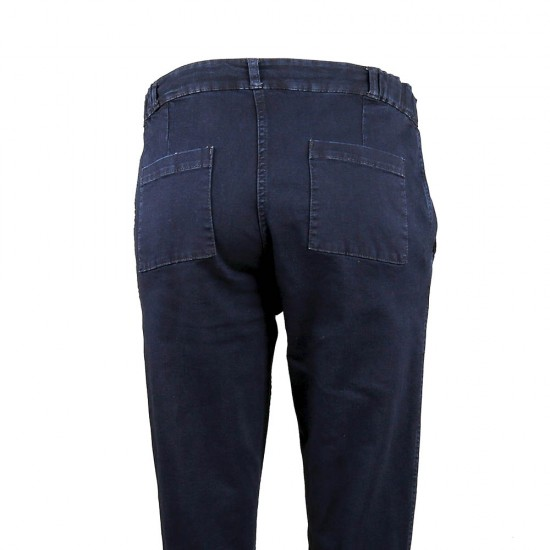 Pénélope, Denim Capri pants back