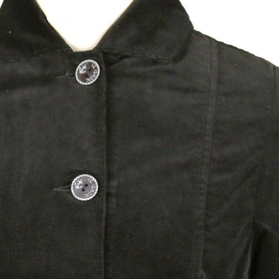 Faustine, Lined jacket in fine corduroy velvet collar
