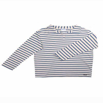 Rosa, Striped jersey child sailor's smock indigo