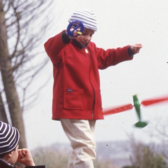 Yann, Parka en laine enfant rouge