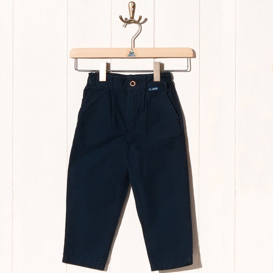 Richard, Pantalon en toile coton bio navy