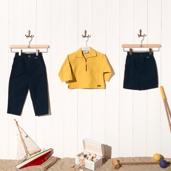 Child shorts in organic cotton canvas