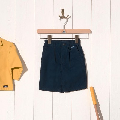 Charles, Child shorts in organic cotton canvas