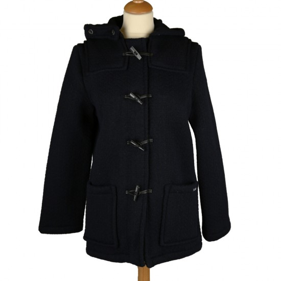 Alba, duffle-coat court en drap fantaisie