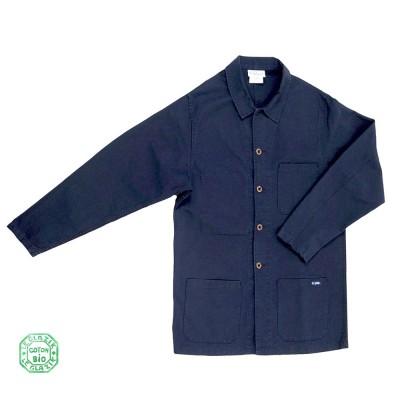 Florient, veste homme en coton biologique navy