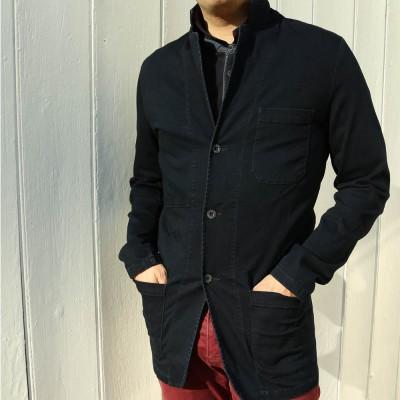Fronsac, veston stretch en véritable indigo