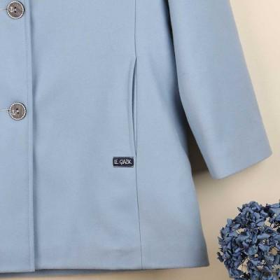 Rimini, Manteau en laine doublé à col montant zoom