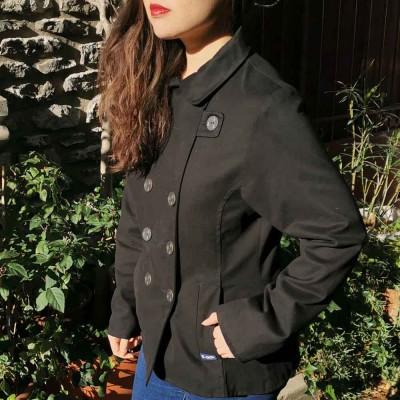 Biarritz, Stretch gabardine pea coat jacket le glazik