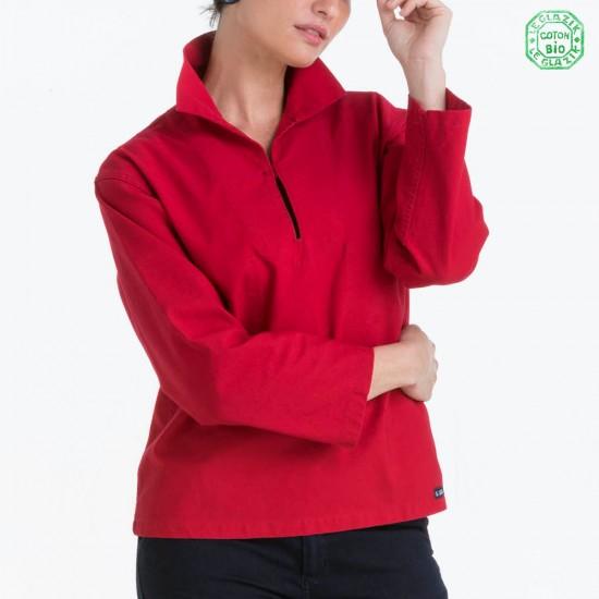 Vam Vareuse Femme made in france Le Glazik rouge
