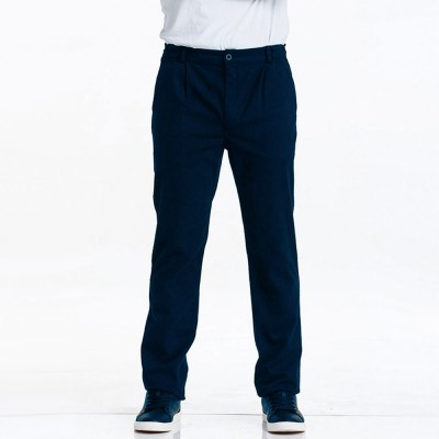 Pegasus, Bleu de prusse Stretch canvas pants and tapered legs