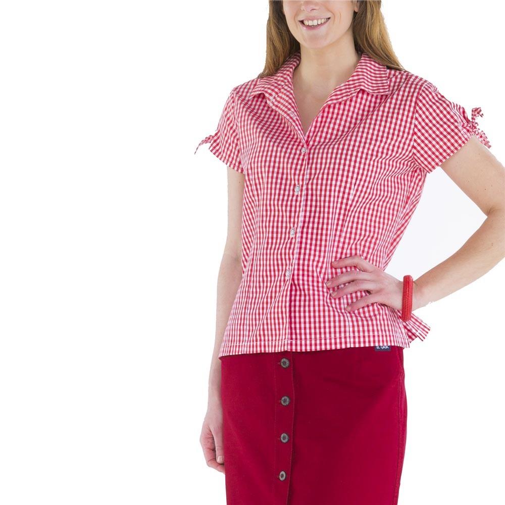 Vichy women's short-sleeves blouse
