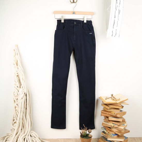 Fionola, Denim pants in guenuine indigo Le Glazik women