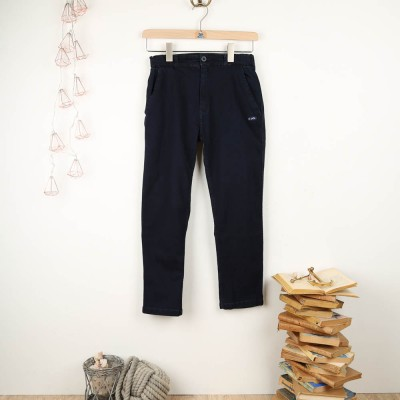Pénélope, Denim Capri pants jean stretch women Le Glazik