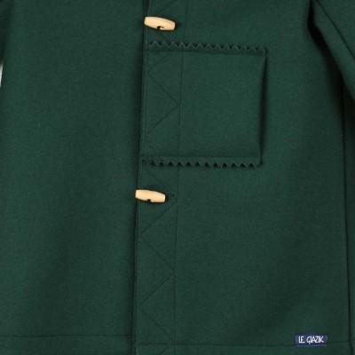 Karen, Kabig breton et authentique, en laine zoom vert