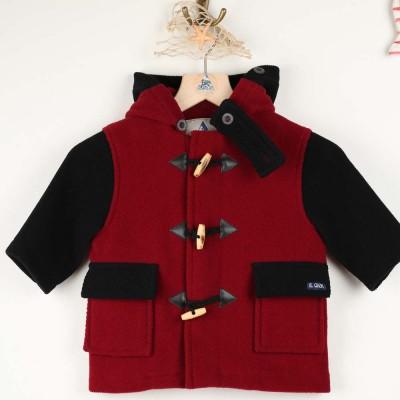 Gavroche, manteau en chevrons laine enfant Le Glazik kermes et navy