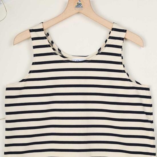 Marvenna, T-shirt rayé sans manches