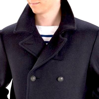 Collar Pea Coat Breton
