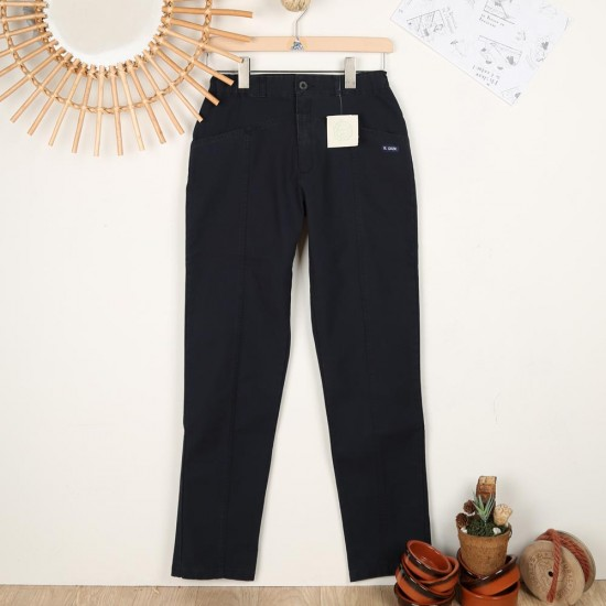 Bron, women's organic cotton pants Le Glazik navy
