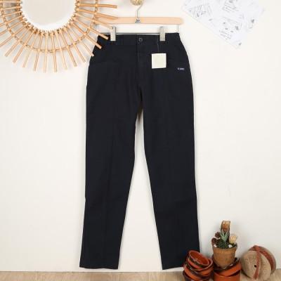 Bron, women's organic cotton pants Le Glazik navy