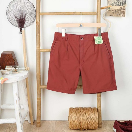 Carnac, Organic cotton canvas shorts Le Glazik men