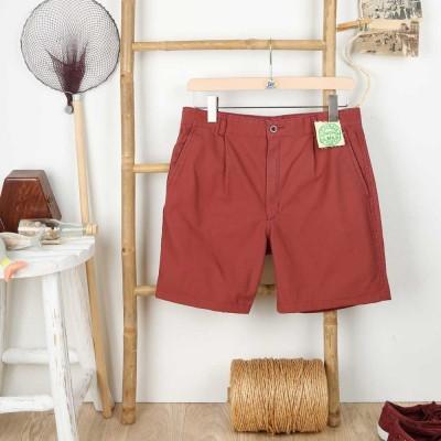 Carnac, Organic cotton canvas shorts Le Glazik men