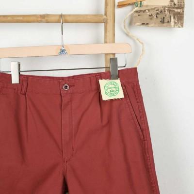Carnac, Short en toile coton Bio Homme Le Glazik brique