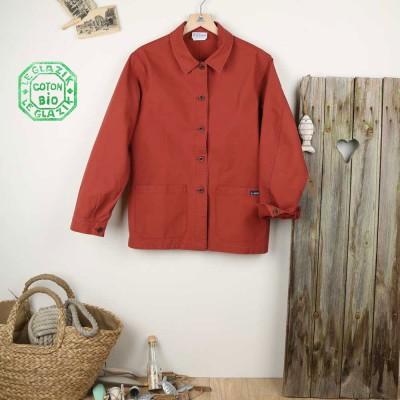 Fontenay, veste femme en coton biologique Le Glazik