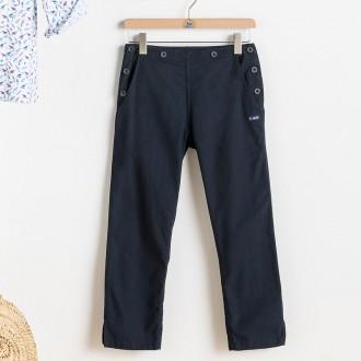 Pantacourt Femme, court et élégant pantalon marin - Maison Le Glazik