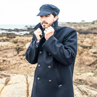 Men Pea Coat, the authentic french brittany reefer jacket - Le Glazik