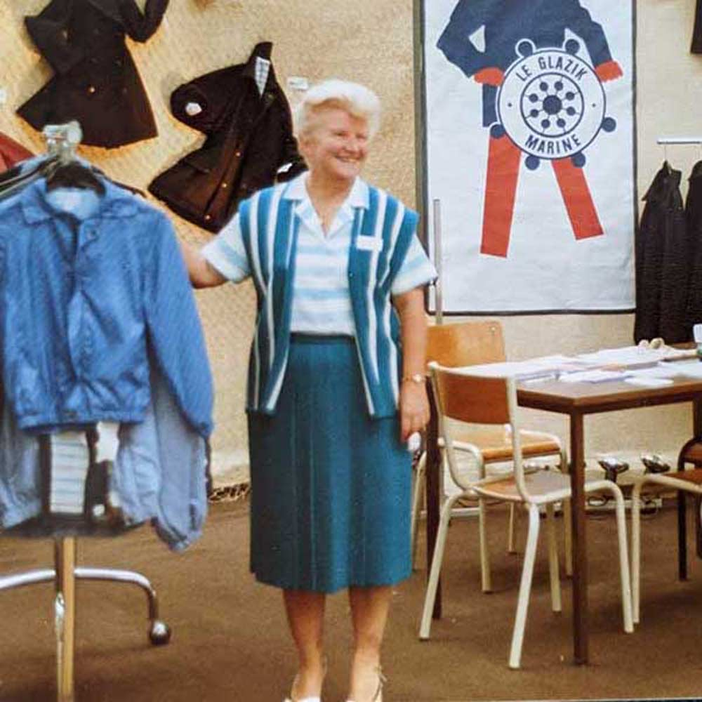 The fashion of the sailor clothing from the 1960s